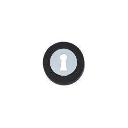 Rozet Cali met sleutelgat verdekt chroom/zwart