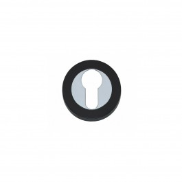 Rozet Cali met profielcilindergat verdekt chroom/zwart