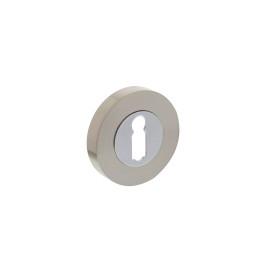 Rozet met sleutelgat rond chroom/nikkel mat