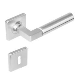 Deurkruk Bau-Stil vierkant rozet met sleutelgat