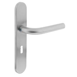Deurkruk Recht op schild sleutelgat 56 mm