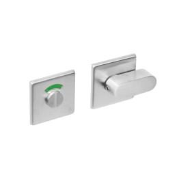 Rozet toilet-/badkamersluiting vierkant rvs