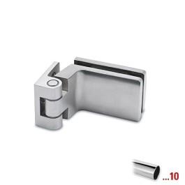 Glasdeurscharnier 90°, glas/wand voor glasdikte 6 - 10 mm - Chroom design