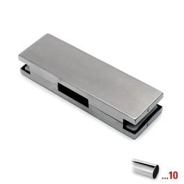 Tegenkast, zamack / RVS gepolijst, voor glasdikte 10 - 12 mm