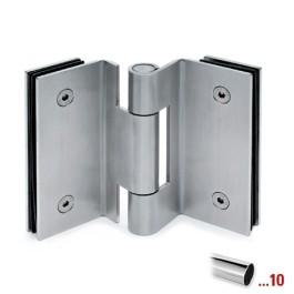 Glasdeurscharnier glas/glas voor glasdikte 10 - 12 mm - Chroom design