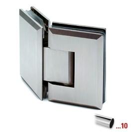RVS glasdeurscharnier 135°, gepolijst, glas/glas voor glasdikte 8 - 12 mm