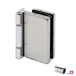 Glasdeurscharnier voor glasdikte 8 - 10 mm - Chroom design