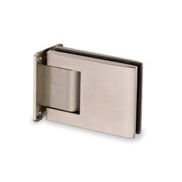 RVS hydraulisch glasdeurscharnier 90° (paar), glas/wand voor glasdikte 8 - 12 mm