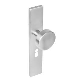 Knop rechthoekig schild sleutelgat rvs 56 mm