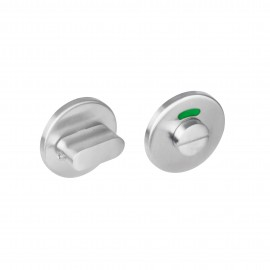 Rozet toilet-/badkamersluiting rond rvs 8mm