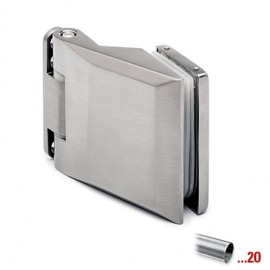 RVS look glasdeurscharnier, zamack/aluminium, voor glasdikte 8 - 10 mm
