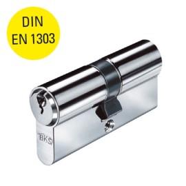 RVS dubbele profielcilinder 31/31 mm met 3 sleutels, DIN EN 130