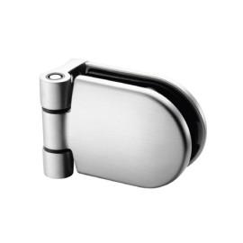 RVS deurscharnier, voor buis-Ø 48,3 - 50,8 mm voor glasdikte 6 - 12,76 mm
