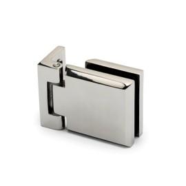 Glasdeurscharnier, glas/wand, voor glasdikte 6 - 10 mm - Chroom design