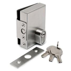 RVS slotkast voor glasdikte 10 mm, met 3 sleutels