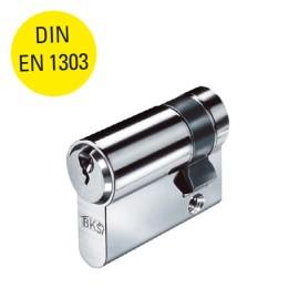 RVS halve profielcilinder 31/30 mm met 3 sleutels, DIN EN 1303